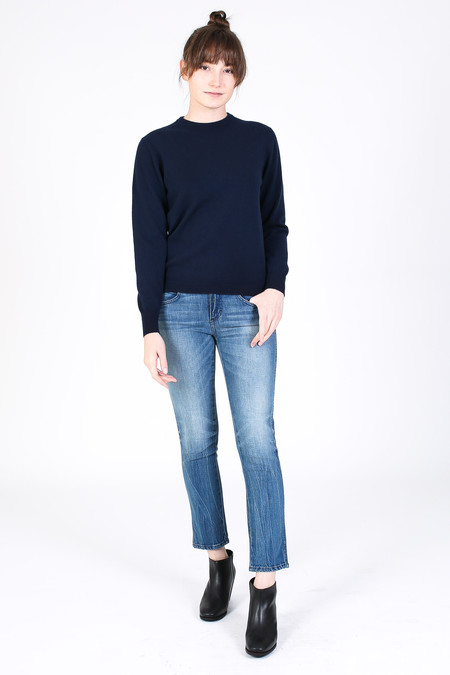 SBJ Austin Crewneck Cashmere Sweater in Navy