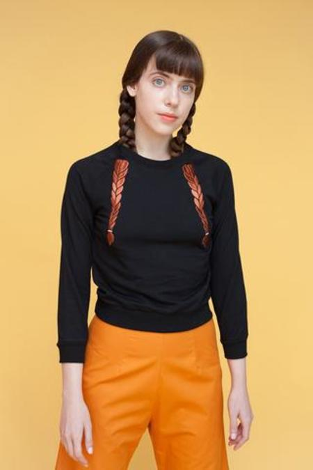 Samantha Pleet Braid Sweater