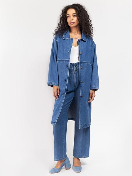 69 Simple Coat Blue