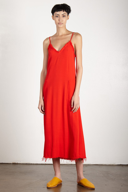 Raquel Allegra POPPY CREPE V CAMI DRESS
