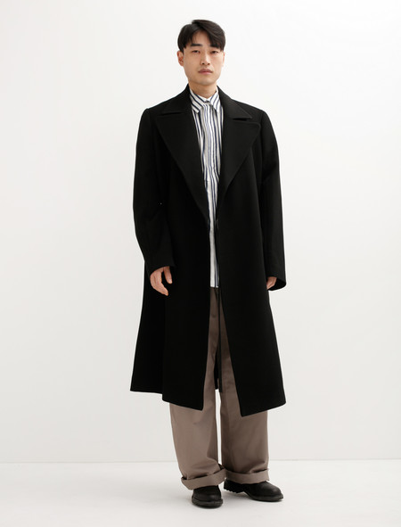 Hed Mayner Tailored Coat Black