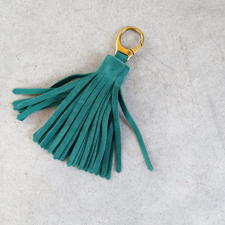 Jerome Dreyfuss Medium Pompom in Emerald Green