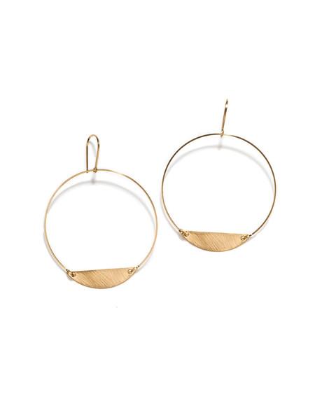 By Boe Hoop with half Oval Earrings