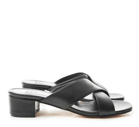 Maryam Nassir Zadeh Black Calf Lauren Slides