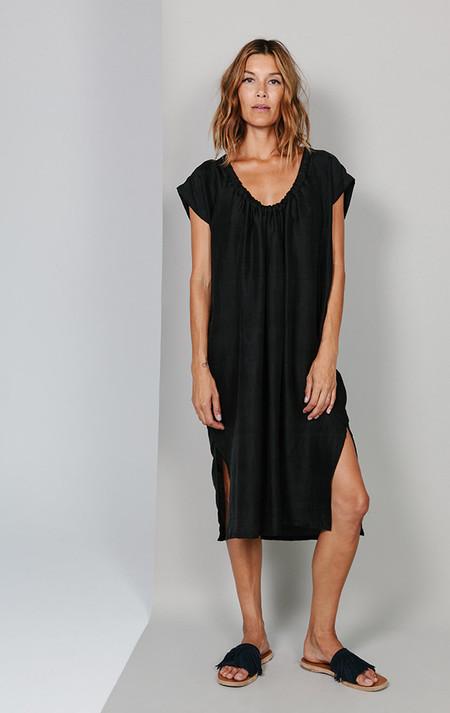 Two New York Handwoven silk drawstring dress