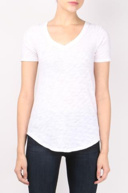ATM Short Sleeve V-Neck Tee in White