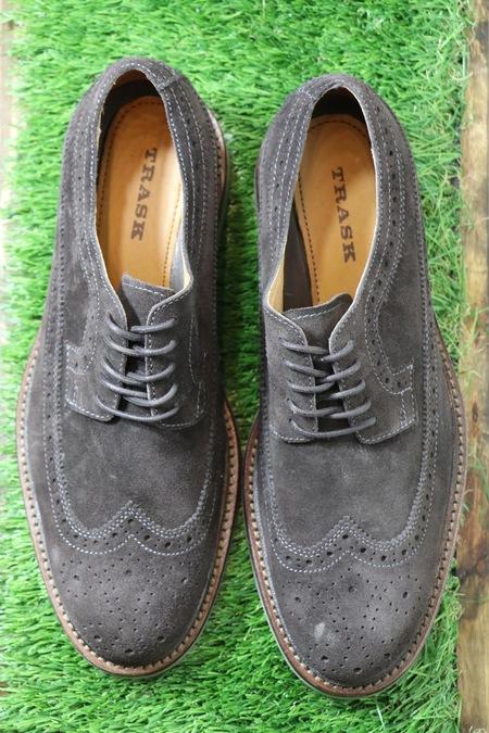 Trask Corbin Gray Suede Shoes