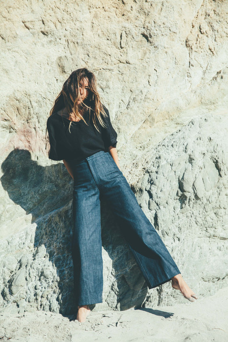Ozma Wide Leg Denim Pant