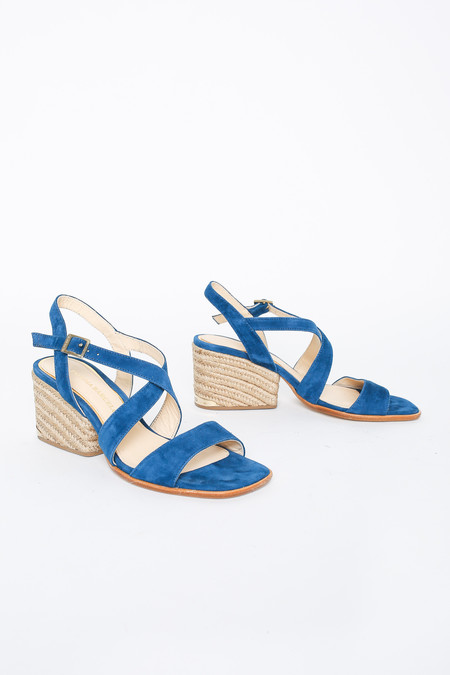 Paloma Barcelo Open Toe Strappy Sandal in Azul