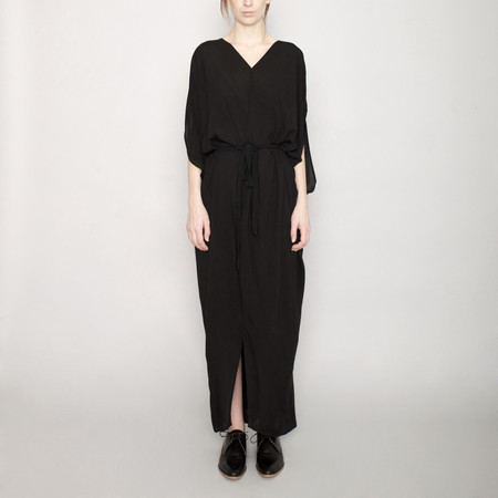 7115 by Szeki Signature Kimono Maxi Dress - Black
