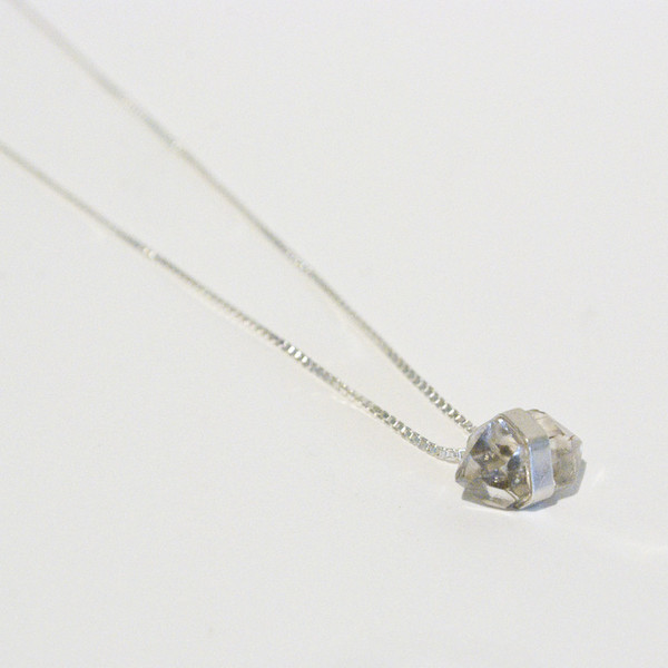 Better Late Than Never Diamond Drop Necklace - Silver
