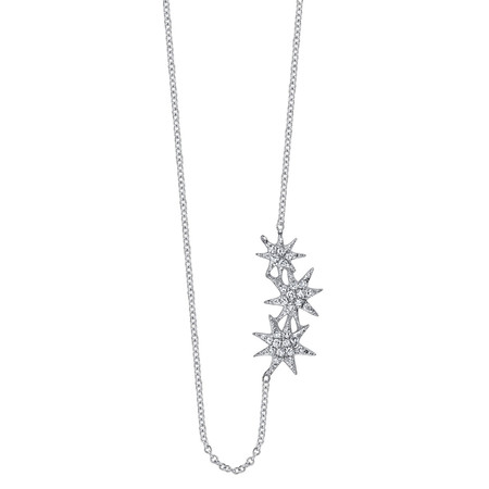 Gabriela Artigas Triple Star Necklace with Pavé Diamonds