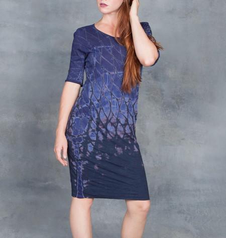 Raquel Allegra SS Fitted Dress in Indigo