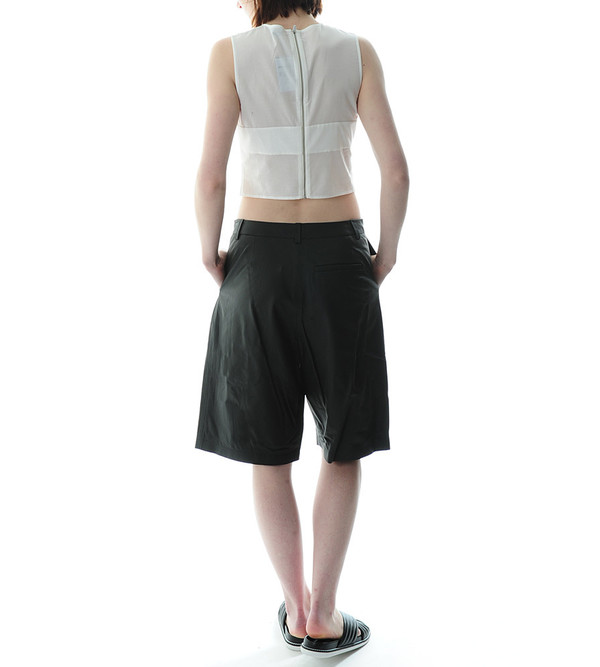 T By Alexander Wang Cotton Voile Sleeveless Crop Top