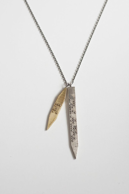 Covet + Keep chelsea silver and bronze necklace