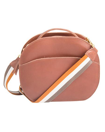 Oliveve nina canteen bag in chestnut saddle leather