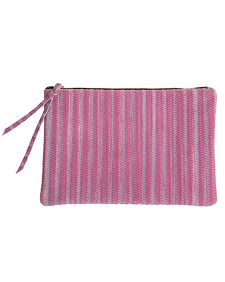 Oliveve queenie in lilac woven cow leather