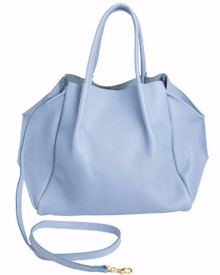Oliveve zoe tote in ciel pebble cow leather