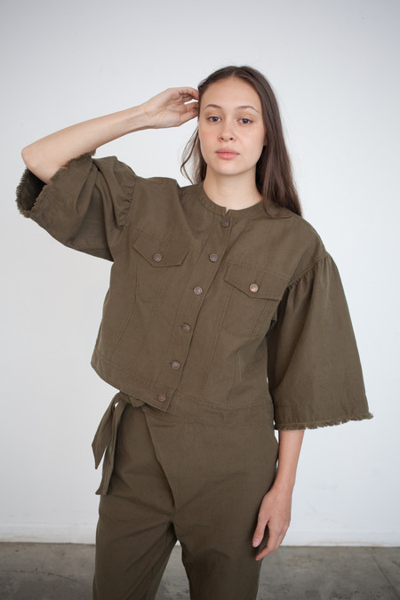 Ulla Johnson Kloe Jacket in Olive