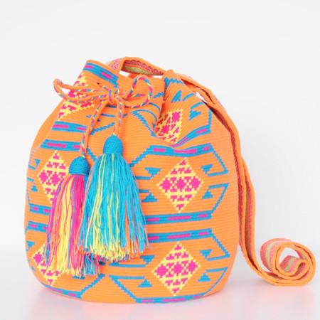 Shop Mariya Neon Orange Mochila - L