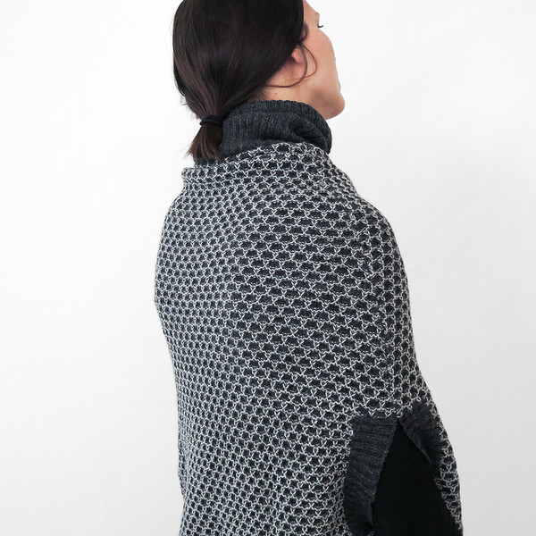 Erica Tanov alpaca funnel neck poncho