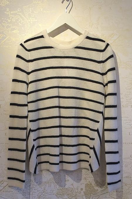 A.L.C. Stripe Cross Back 'Tula' Sweater