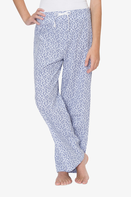The Sleep Shirt Lounge Pant Blue Floral Stripe