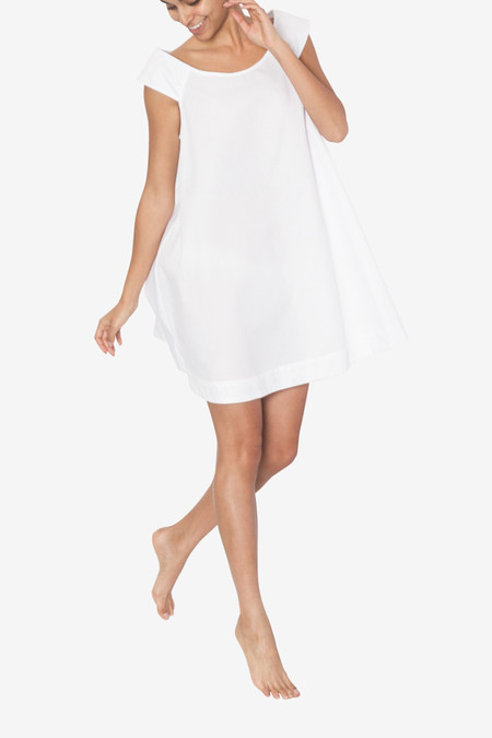 The Sleep Shirt Swing Nightie White Pique Light