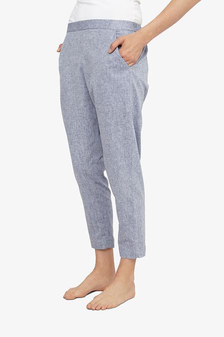 The Sleep Shirt Tapered Pant Linen Chambray