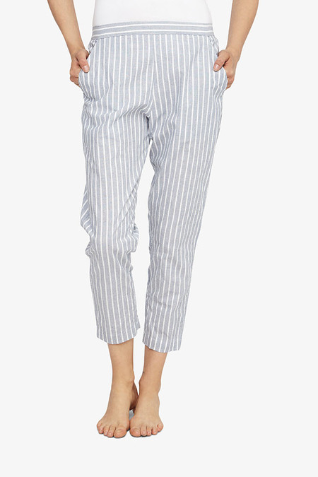 The Sleep Shirt Tapered Pant Navy Maine Stripe