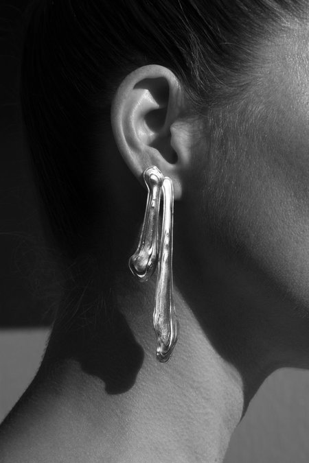 Leigh Miller Sterling Silver Ebb & Flow Earrings
