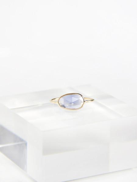 Vale Rose Cut Sapphire Slice Ring