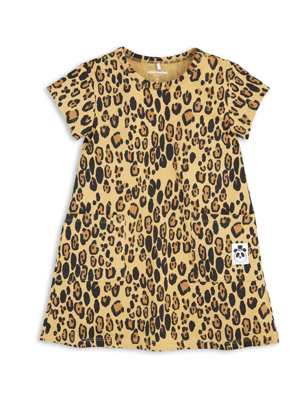 Kid's Mini Rodini LEOPARD PRINT DRESS