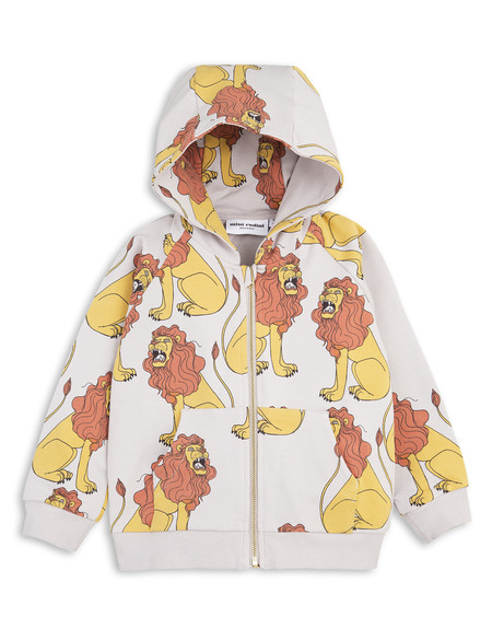 Kid's Mini Rodini LION PRINT ZIP HOODIE