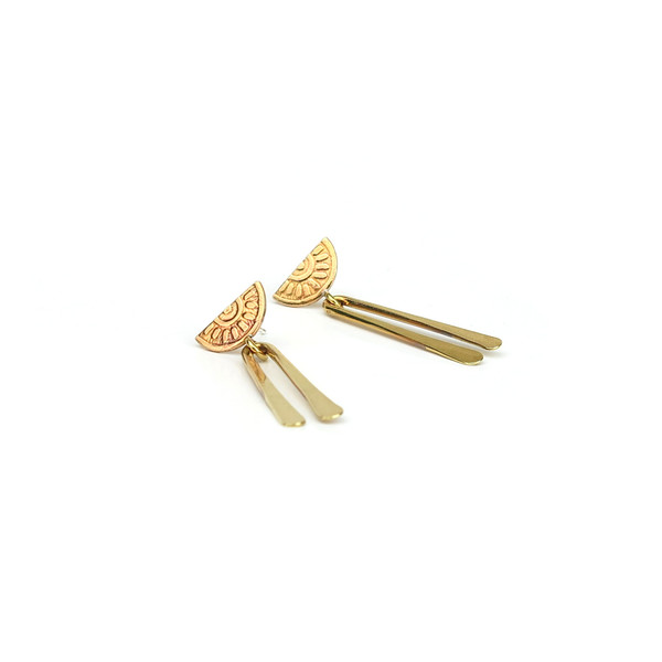 Claire Green Jewelry Ray Earrings