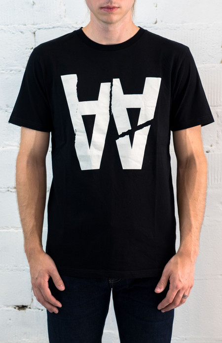 Wood Wood AA Rip T-Shirt (Black)