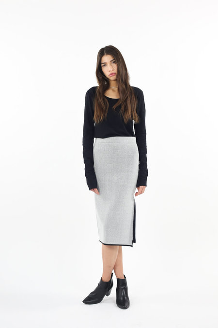 C/MEO No Business Knit Skirt - Grey Mesh