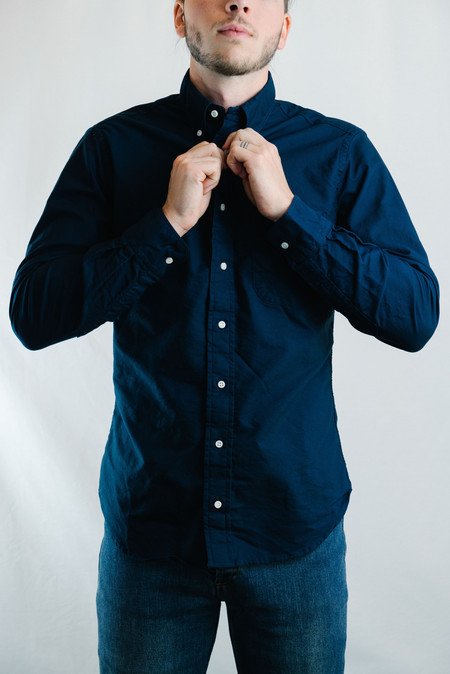 Gitman Vintage Overdye Oxford Shirt - Navy