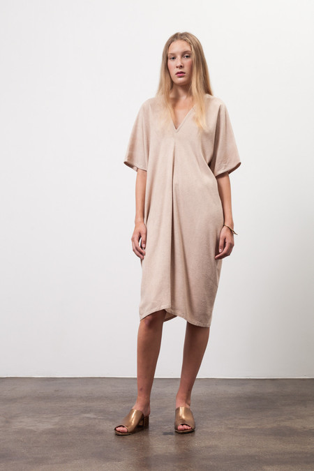 Osei-Duro Sola Panel Dress in Onion Skin