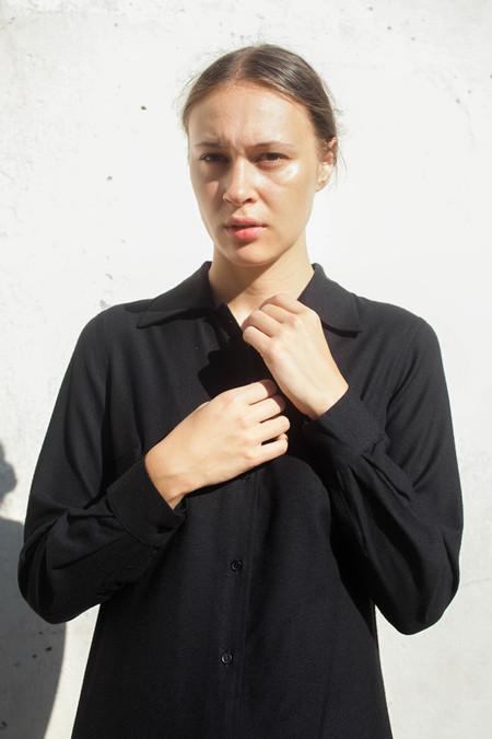 Baserange Nador Shirt Dress in Black