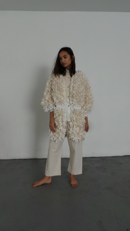 M.PATMOS MARIANNE CROCHETED COAT