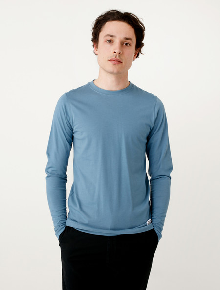 Norse Projects Niels Basic LS Marginal Blue