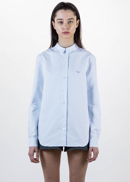 Maison Kitsune Light Blue Oxford Stripes Classic Shirt