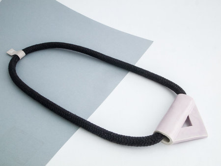 YYY violet triangle necklace