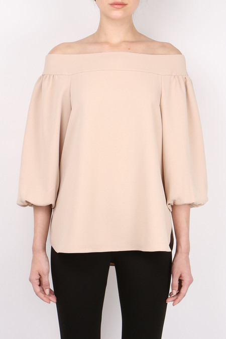 Tibi Twill Off Shoulder Top