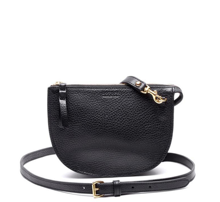 Lotuff Leather Black Mini Luna Bag