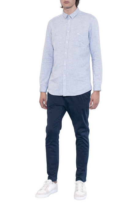 Journal Grit Linen Shirt - Light Blue