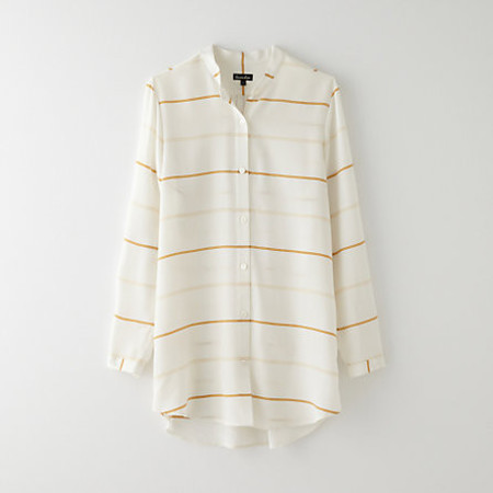 Steven Alan Band Collar Boyfriend Blouse