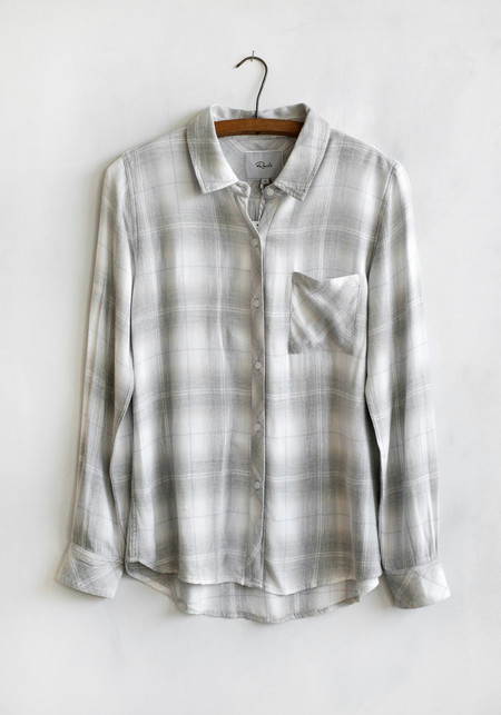 Sunday Supply Co. Hunter Buttondown White/Cinder