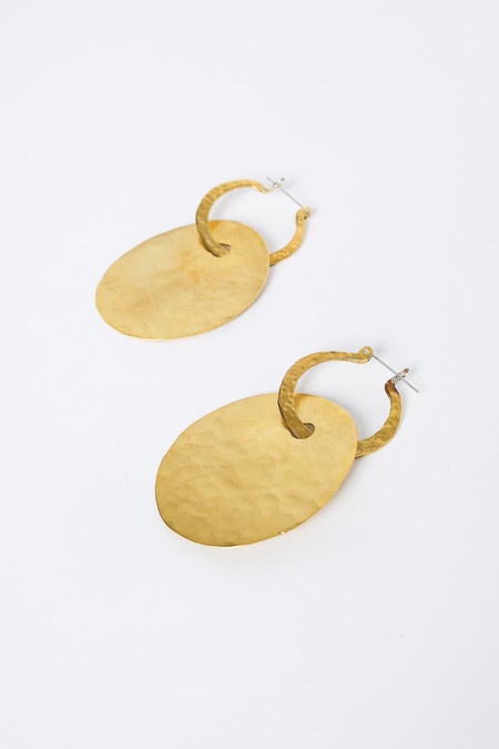 Crescioni Lune Earrings in Brass